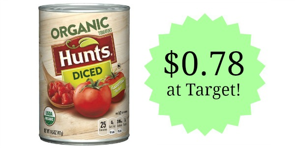 Target: Hunt's Organic Canned Tomatoes Only $0.78!
