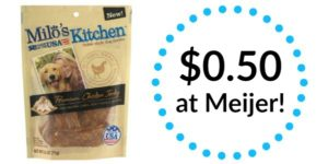Meijer: Milo's Kitchen Homestyle Dog Treats Only $0.50!