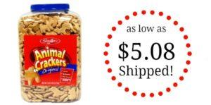 Stauffer's Original Animal Crackers – 4lb 14oz Tub as low as $5.08 Shipped!