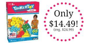 TINKERTOY 65 Piece Essentials Value Set Only $14.49! (reg. $24.99)