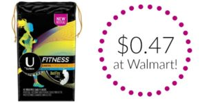 Walmart: U by Kotex Products Only $0.47!