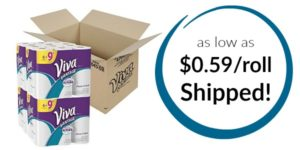 VIVA Vantage Choose-A-Sheet Paper Towels as low as $0.59 roll Shipped!