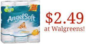 Walgreens: Angel Soft Bath Tissue Only $0.28 Per Big Roll!