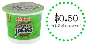 Schnucks: Apple Jacks Cereal Cup Only $0.50!