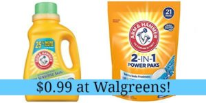 Walgreens: Arm & Hammer Laundry Detergent Only $0.99!