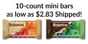 Balance Mini Bars 10ct as low as $2.83 Shipped!