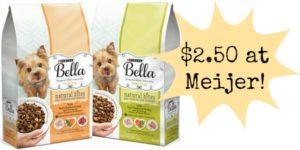 Meijer: Bella Dry Dog Food Only $2.50!