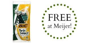 FREE Bic Twin Select Disposable Razors at Meijer!