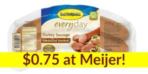 Meijer: Butterball Turkey Sausage Only $0.75!