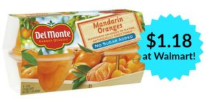 Walmart: Del Monte Fruit Cups Only $1.18!