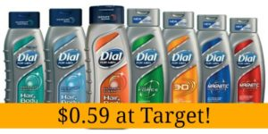Target: Dial for Men Body Wash Only $0.59!