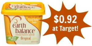 Target: Earth Balance Buttery Spread Only $0.92!