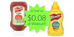 Walmart: French's Ketchup and Mustard as low as $0.08!