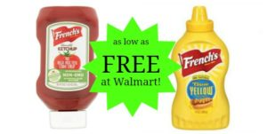Walmart: French's Ketchup and Mustard as low as FREE!