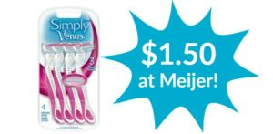 Meijer: Gillette Simply Venus Disposable Razors Only $1.50!