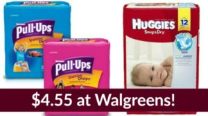 Walgreens: Huggies Diapers Only $4.55!