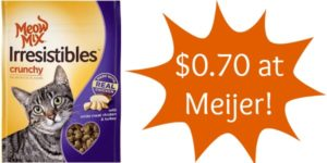 Meijer: Meow Mix Cat Treats Only $0.70!