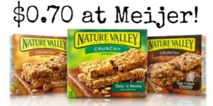 Meijer: Nature Valley Granola Bars Only $0.70!