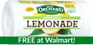 FREE Old Orchard Frozen Lemonade at Walmart!