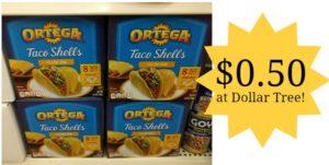 Dollar Tree: Ortega Taco Shells Only $0.50!