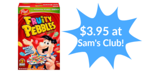 Sam's Club: Post Fruit Pebbles Cereal 34oz Only $3.95!
