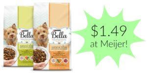 Meijer: Bella Dry Dog Food Only $1.49!