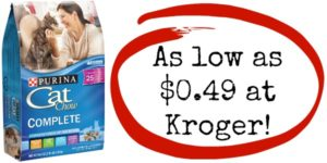 Kroger: Purina Cat Chow as low as $0.49!