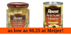Meijer: Reese Artichoke Hearts as low as $0.25!