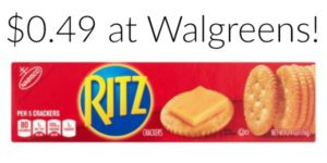 Walgreens: Ritz Crackers Only $0.49!