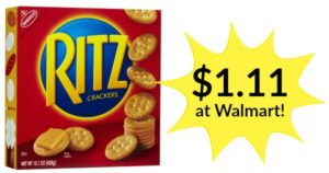 Walmart: Ritz Crackers Only $1.11!