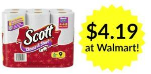 Walmart: Scott Paper Towels 6 Big Rolls Only $4.19!