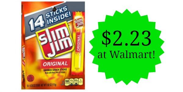 Walmart: Slim Jim Snack Sticks 14ct Only $2.23!