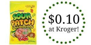 Kroger: Sour Patch Kids Only $0.10!