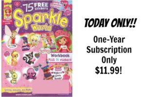 Sparkle World Magazine Only $11.99!
