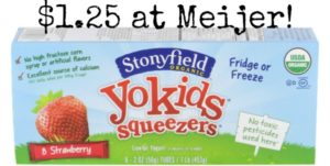 Meijer: Stonyfield YoKids Yogurt Multi-packs Only $1.25!