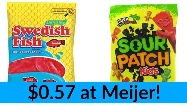 Meijer sour patch and swedish fish candy only for Sour swedish fish