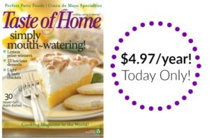 Taste of Home Magazine Subscription Only $4.97!