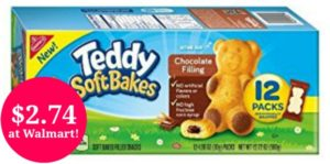 Walmart: Teddy Soft Bakes Filled Snacks 12-count Only $2.74!