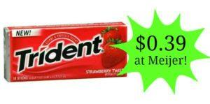 Meijer: Trident Gum Single Packs Only $0.39!