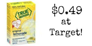 Target: True Lemon Water Enhancer Only $0.49!