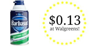 Walgreens: Barbasol Shave Cream or Pure Silk Shave Cream as low as $0.13!