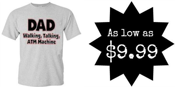DAD Walking,Talking, ATM Machine Tee