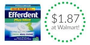 Walmart: Efferdent Denture Cleanser as low as $1.87!