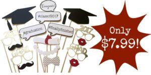 Graduation Photo Props 17-Piece Set Only $7.99!