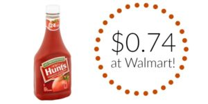 Walmart: Hunt's Ketchup Only $0.74!