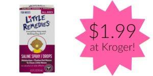 Kroger: Little Remedies Saline Spray / Drops Only $1.99!