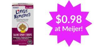 Meijer: Little Remedies Saline Spray Only $0.89!