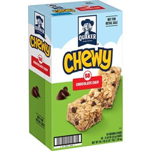 Box of 58 Quaker Chewy Chocolate Chip Granola Bars as low as $4.48!