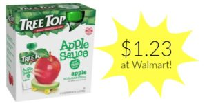 Walmart: Tree Top Apple Sauce Pouches Only $1.23!