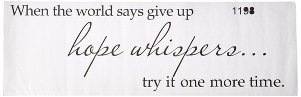 When the World Says Give Up... Vinyl Wall Decal